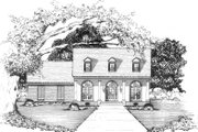 Country Style House Plan - 4 Beds 2 Baths 1791 Sq/Ft Plan #36-329 Exterior - Front Elevation
