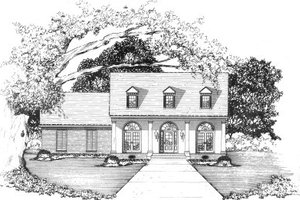 Country Exterior - Front Elevation Plan #36-329