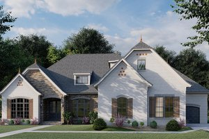 Ranch Exterior - Front Elevation Plan #923-94