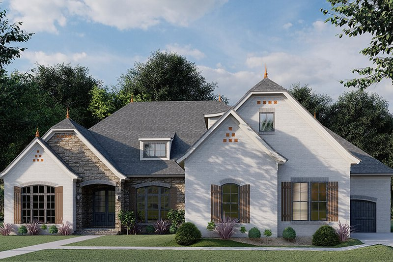 Dream House Plan - Ranch Exterior - Front Elevation Plan #923-94