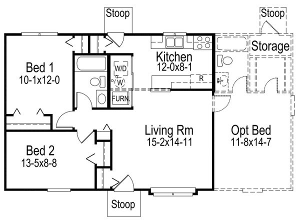 Farmhouse Floor Plan - Main Floor Plan Plan #57-410