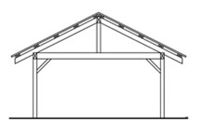 Traditional Exterior - Rear Elevation Plan #124-663 - Houseplans.com