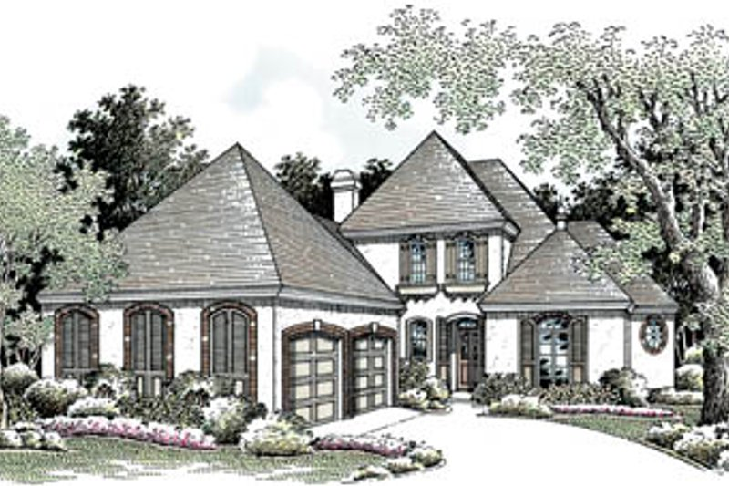 Home Plan - European Exterior - Front Elevation Plan #45-148