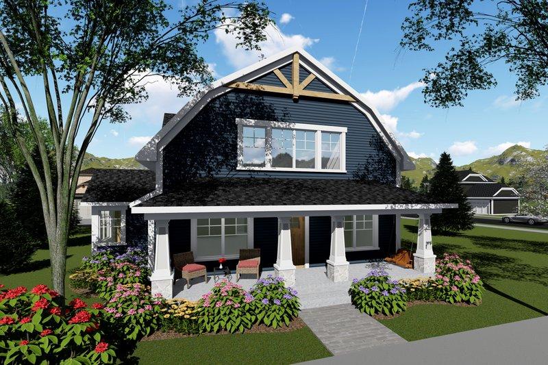Dream House Plan - Farmhouse Exterior - Front Elevation Plan #70-1419