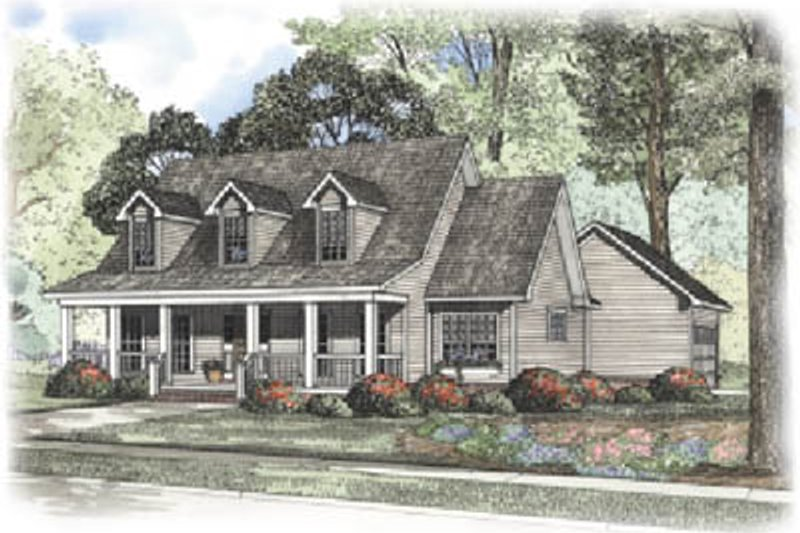 Architectural House Design - Country Exterior - Front Elevation Plan #17-410