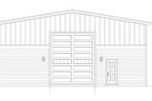 Country Exterior - Front Elevation Plan #932-88