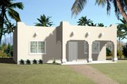 Adobe / Southwestern Style House Plan - 1 Beds 1 Baths 768 Sq/Ft Plan #1-371 Exterior - Front Elevation