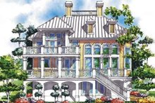 Architectural House Design - Mediterranean Exterior - Rear Elevation Plan #930-75