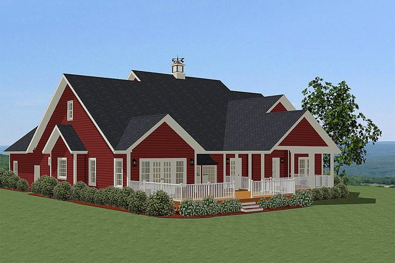 Traditional Exterior - Front Elevation Plan #898-19 - Houseplans.com