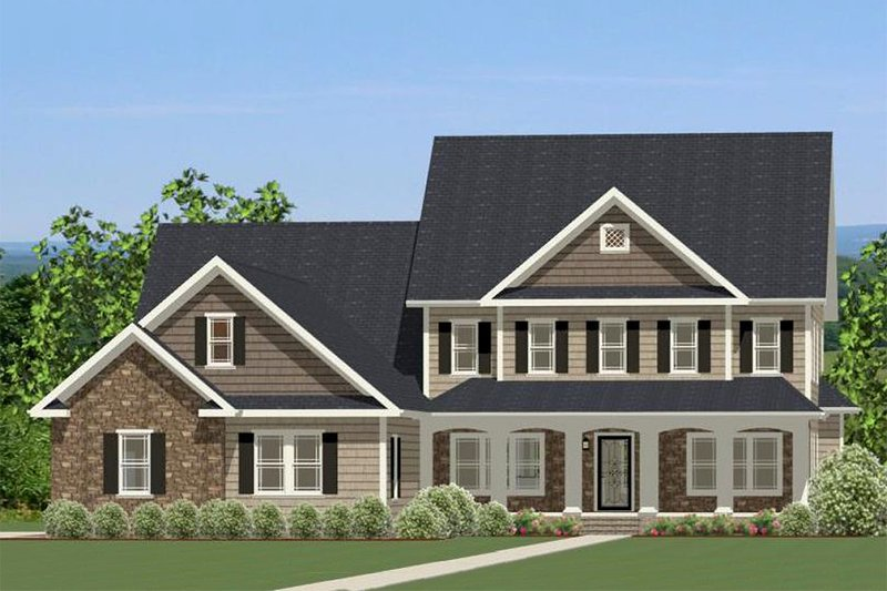 Colonial Exterior - Front Elevation Plan #898-33