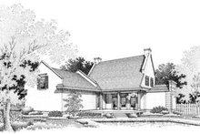 Home Plan Design - Southern Exterior - Rear Elevation Plan #45-198