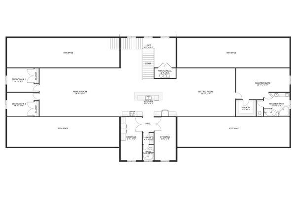 Farmhouse Floor Plan - Upper Floor Plan #1060-83