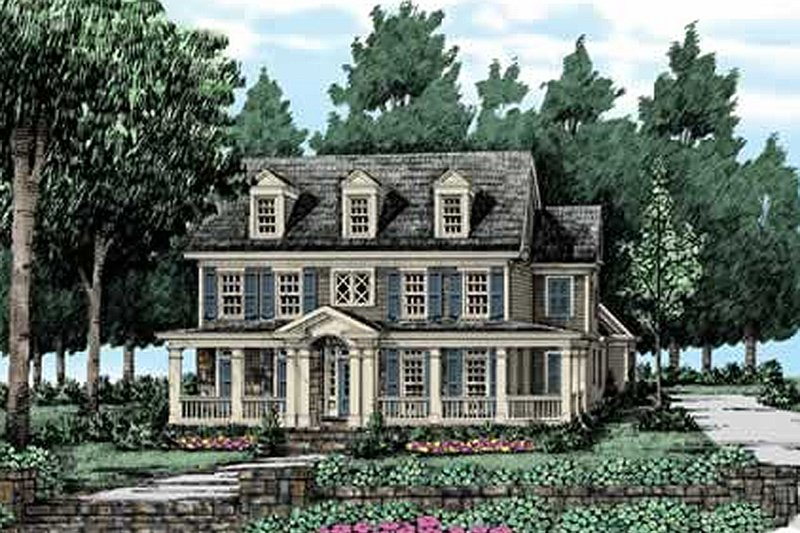 Farmhouse Exterior - Front Elevation Plan #927-40 - Houseplans.com