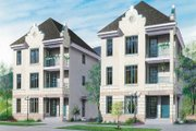 European Style House Plan - 1 Beds 1 Baths 2517 Sq/Ft Plan #23-2152