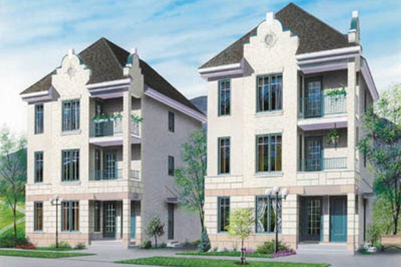 Dream House Plan - European Exterior - Front Elevation Plan #23-2152
