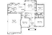 European Style House Plan - 5 Beds 4.5 Baths 3525 Sq/Ft Plan #927-24 Floor Plan - Main Floor Plan
