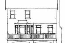 Home Plan Design - European Exterior - Rear Elevation Plan #56-155