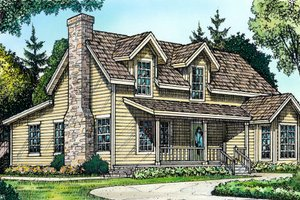 Country Exterior - Front Elevation Plan #140-110
