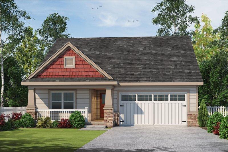 House Plan Design - Craftsman Exterior - Front Elevation Plan #20-2431