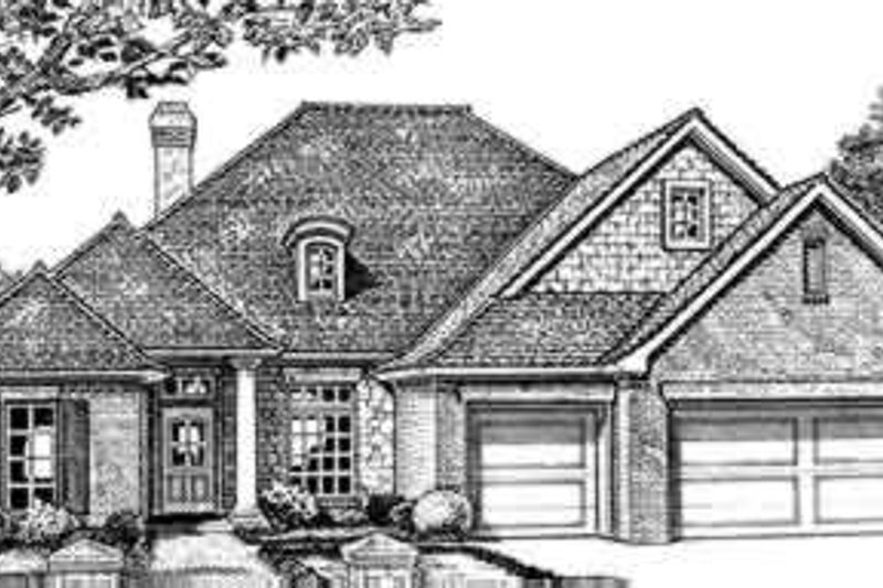 Dream House Plan - Traditional Exterior - Front Elevation Plan #310-244