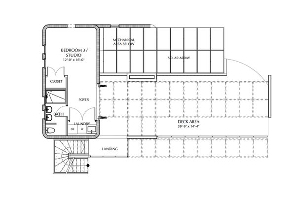Beach Floor Plan - Upper Floor Plan Plan #535-23