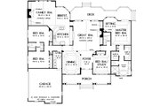 Country Style House Plan - 4 Beds 3 Baths 2818 Sq/Ft Plan #929-13 Floor Plan - Main Floor Plan