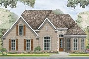 European Style House Plan - 3 Beds 2 Baths 1799 Sq/Ft Plan #424-185 Exterior - Front Elevation