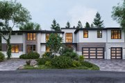 Contemporary Style House Plan - 6 Beds 5.5 Baths 6786 Sq/Ft Plan #1066-30 Exterior - Front Elevation