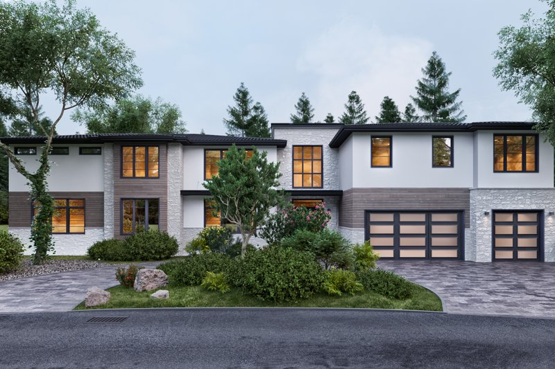 House Plan Design - Contemporary Exterior - Front Elevation Plan #1066-30