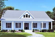 Architectural House Design - Traditional Exterior - Front Elevation Plan #44-250