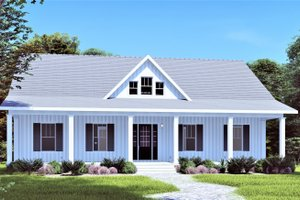Traditional Exterior - Front Elevation Plan #44-250