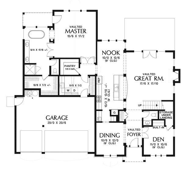 European Floor Plan - Main Floor Plan Plan #48-931
