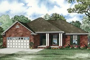 Traditional Exterior - Front Elevation Plan #17-2291