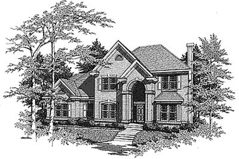 Traditional Exterior - Front Elevation Plan #70-329 - Houseplans.com