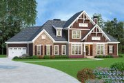 European Style House Plan - 4 Beds 3.5 Baths 2828 Sq/Ft Plan #419-305 Exterior - Front Elevation