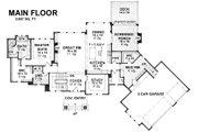 Craftsman Style House Plan - 3 Beds 3 Baths 5121 Sq/Ft Plan #51-581 Floor Plan - Main Floor Plan