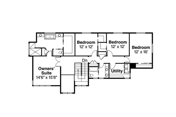Prairie Floor Plan - Upper Floor Plan Plan #124-969