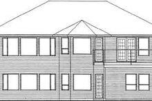 House Plan Design - Traditional Exterior - Rear Elevation Plan #126-137