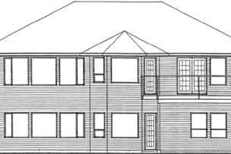 Traditional Exterior - Rear Elevation Plan #126-137 - Houseplans.com