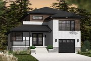 Contemporary Style House Plan - 3 Beds 2.5 Baths 1788 Sq/Ft Plan #23-2580