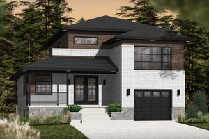Contemporary Exterior - Front Elevation Plan #23-2580