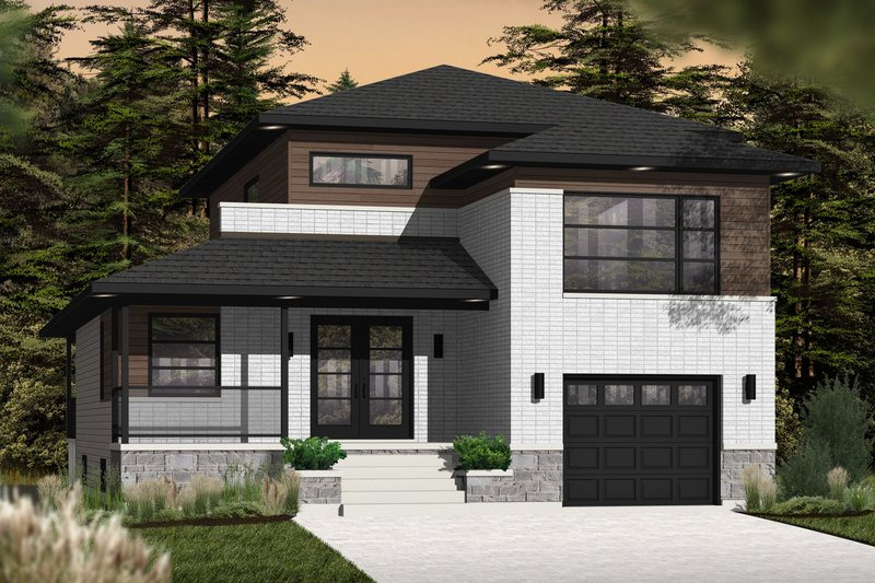 Dream House Plan - Contemporary Exterior - Front Elevation Plan #23-2580