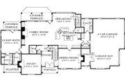 European Style House Plan - 4 Beds 5.5 Baths 5381 Sq/Ft Plan #453-15 Floor Plan - Main Floor Plan
