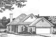 Traditional Style House Plan - 2 Beds 2 Baths 1604 Sq/Ft Plan #310-478 Exterior - Front Elevation