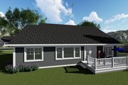Ranch Style House Plan - 3 Beds 2 Baths 1583 Sq/Ft Plan #70-1414 Exterior - Rear Elevation