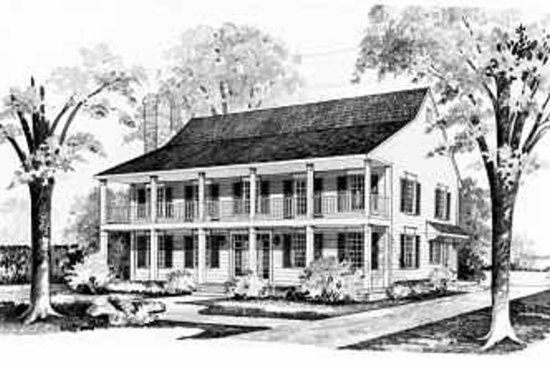Southern Exterior - Front Elevation Plan #72-358 - Houseplans.com