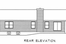 House Plan Design - Ranch Exterior - Rear Elevation Plan #22-103