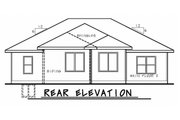 Ranch Style House Plan - 3 Beds 2 Baths 1676 Sq/Ft Plan #20-2322 Exterior - Rear Elevation