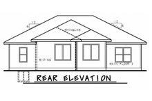 House Plan Design - Ranch Exterior - Rear Elevation Plan #20-2322