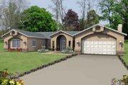 Adobe / Southwestern Style House Plan - 3 Beds 2.5 Baths 2201 Sq/Ft Plan #1-493